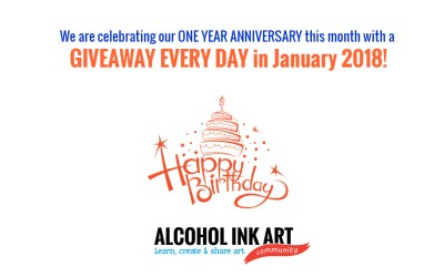 The Alcohol Ink Art Community Celebrates Its One Year Anniversary!