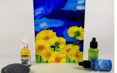 3D Texture and Alcohol Inks