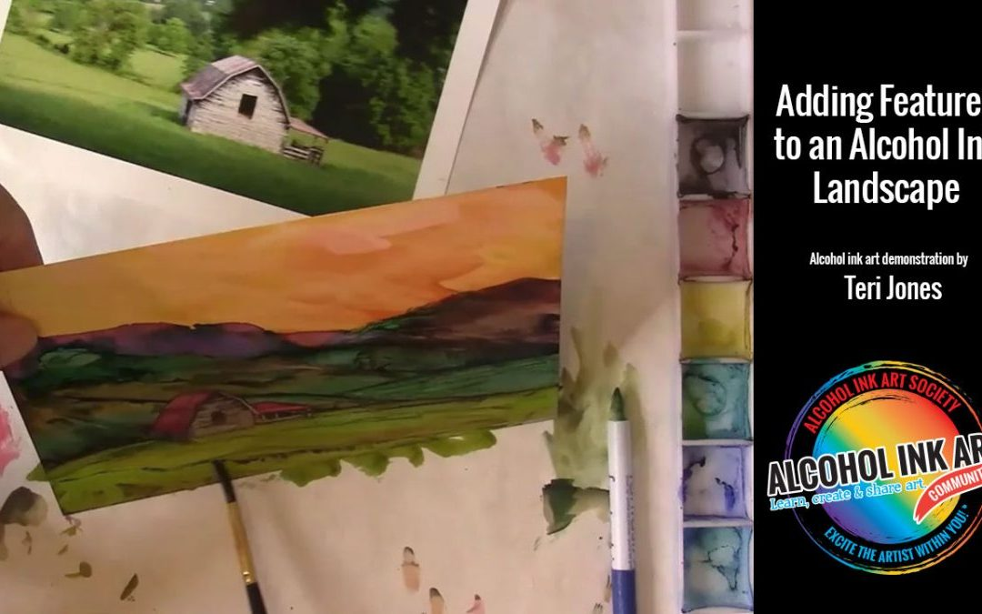 Adding Features to Alcohol Ink Landscape