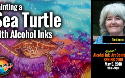 Sea Turtle with Alcohol Inks