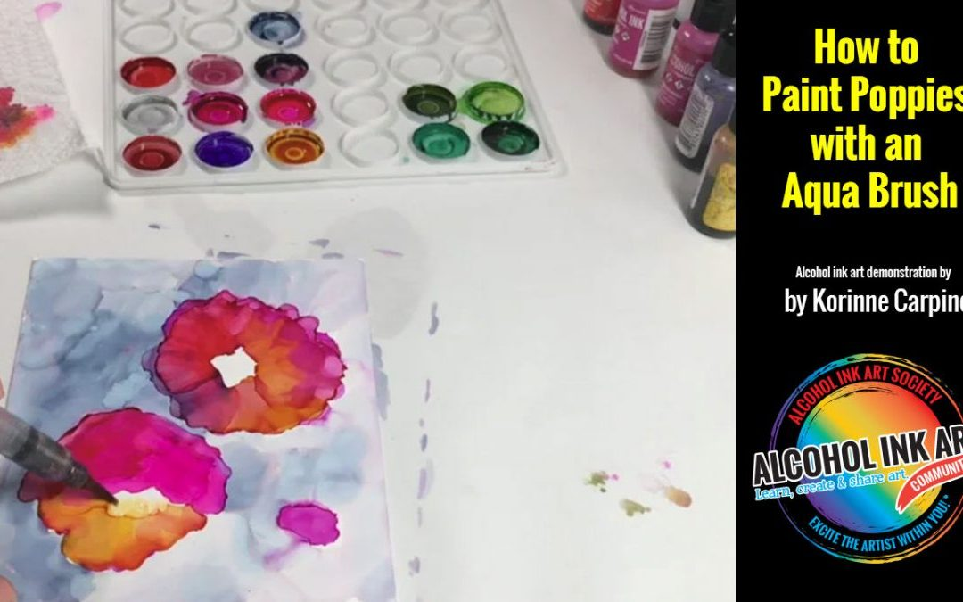 How to Paint Poppies with an Aqua Brush