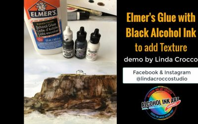Elmer's Glue with Black Alcohol Ink