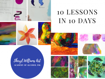10 Free Alcohol Ink Video Lessons in 10 Days