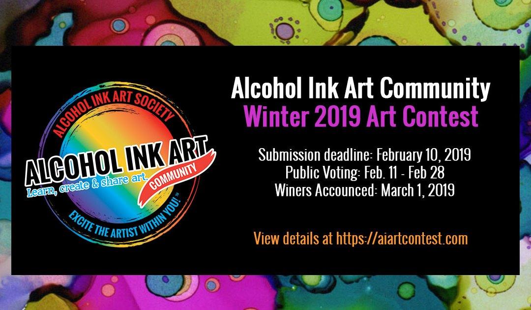 Alcohol Ink Art Community Winter 2019 Art Contest!