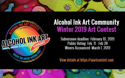 Alcohol Ink Art Community Winter 2019 Art Contest!
