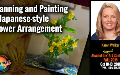 Planning and Painting a Japanese-style Flower Arrangement