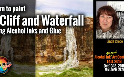 Paint a Cliff and Waterfall