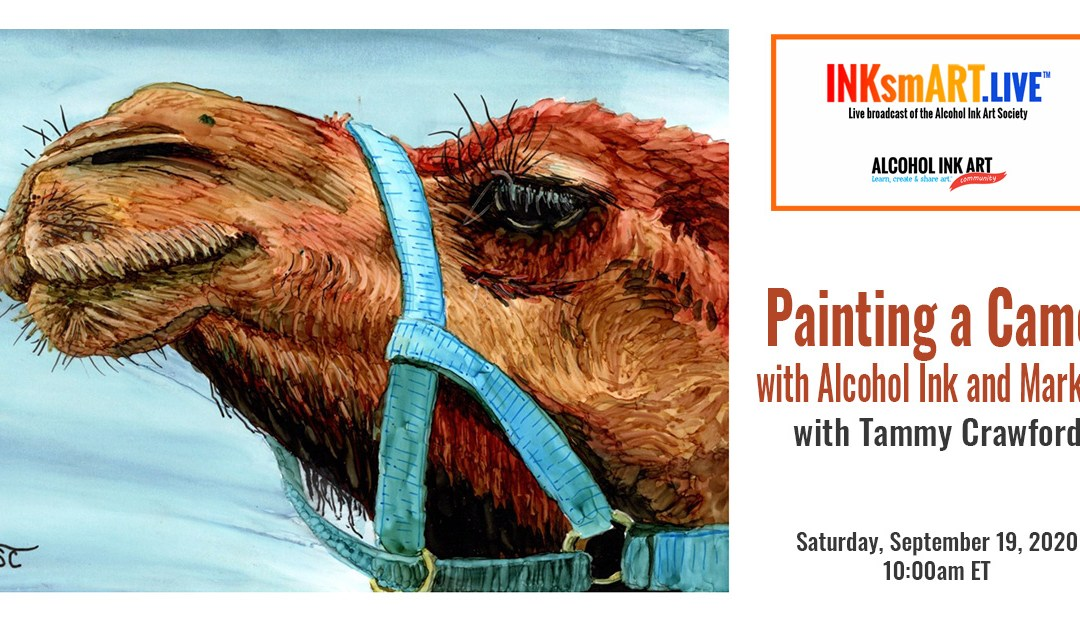 Paint a Camel with Alcohol Ink