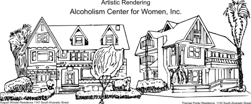 Alcoholism Center for Women - Artistic Rendering of Historic Homes
