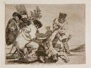 """Grabado de Francisco de Goya, de su serie """"Los desastres de la guerra""""."""