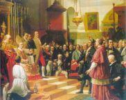 Juramento de las Cortes de Cádiz en la Iglesia mayor parroquial de San Fernando.