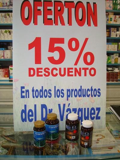 """15% de descuento en todos los productos de Dr.Vazquez, también en """"coralCart"""" y """"mas omega"""". Diles que vas de parte de AlcorconHoy."""