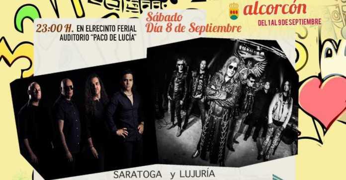 Saratoga y Lujuria tocarán en las Fiestas de Alcorcón 2018
