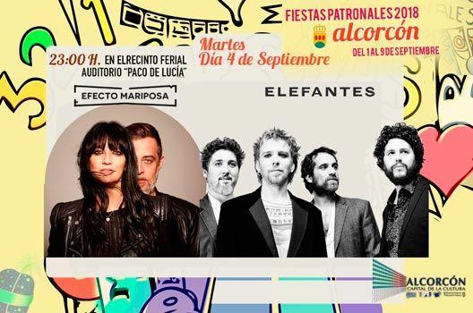 Fiestas de Alcorcón 2018 - Efecto Mariposa y Elefantes