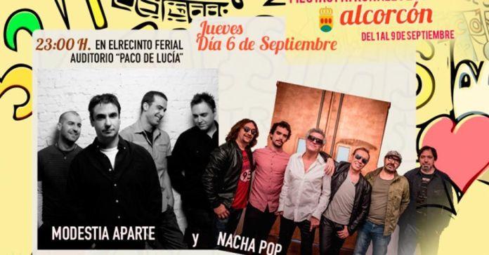 concierto de Modestia aparte y Nacha pop