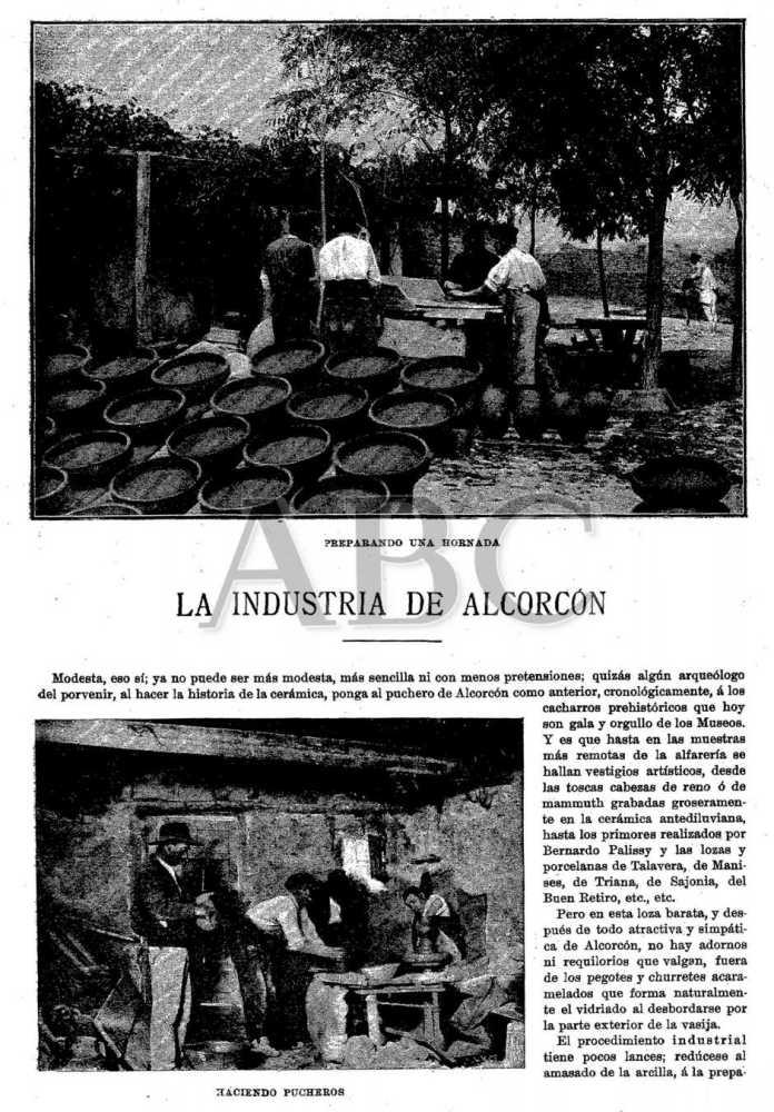 Haciendo pucheros en Alcorcón en 1898