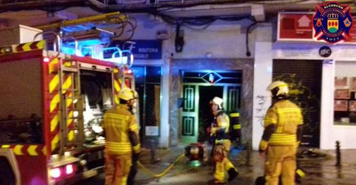 Incendio en el cuarto de contadores de la calle Guindalera