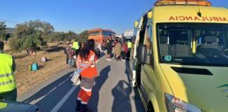 Ocho personas heridas en un autobús
