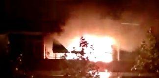 Incendio en Parque del Teide en Alcorcón
