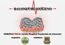 Balones de oxígeno contra el coronavirus en Alcorcón