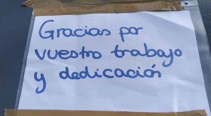 Alcorcón amanece repleto de gracias a los trabajadores de ESMASA