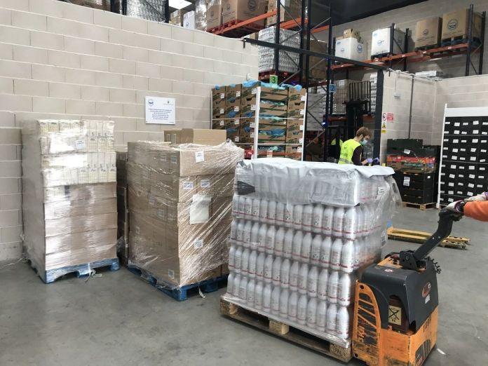 Importante donación de X-Madrid en Alcorcón a la delegación sur del Banco de Alimentos