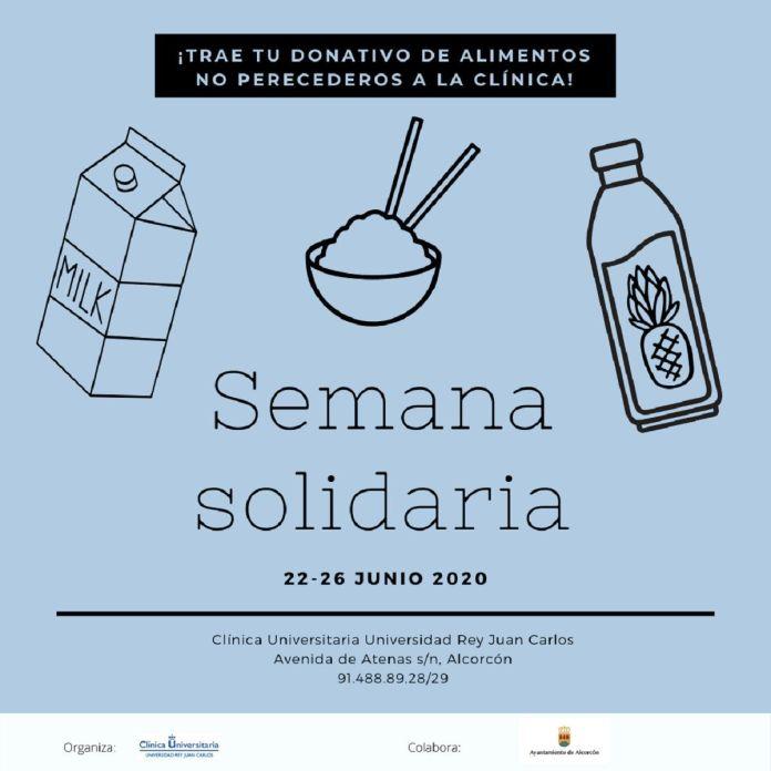 La Clínica Universitaria de la URJC y el Ayuntamiento de de Alcorcón recogen casi 500 kg de alimentos