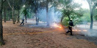 Incendio en el Parque de las Presillas de Alcorcón