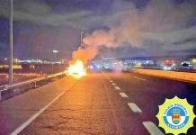 Incendio de vehículos y atropello esta noche en Alcorcón