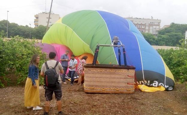 hot air baloon crashes in Murcia