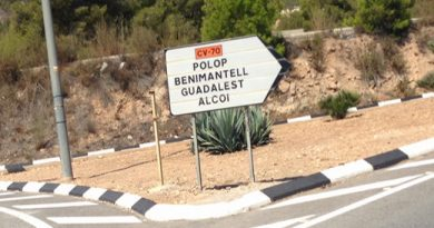 Alcot to benidorm road