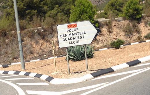 Alcot to benidorm road