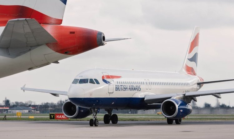 british airways gibralter high winds