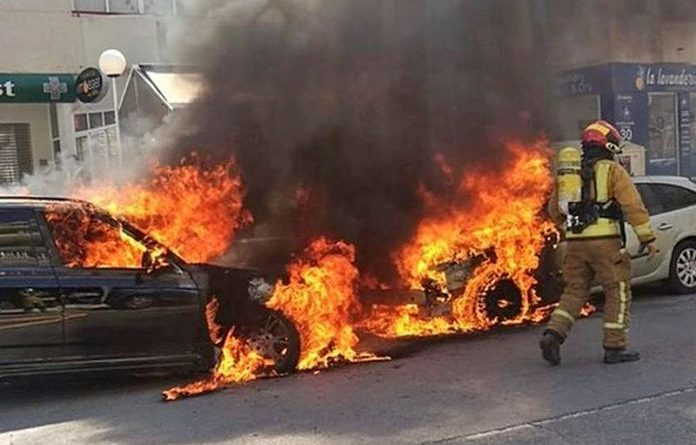 car-fire-costa-blanca