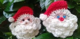 Cara de Papa Noel a Crochet