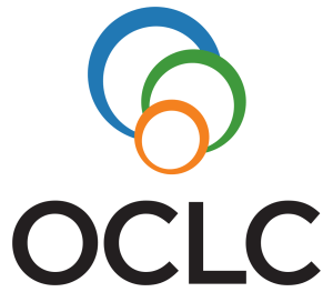 Blue circle, green circle, orange circle overlapping above OCLC in black