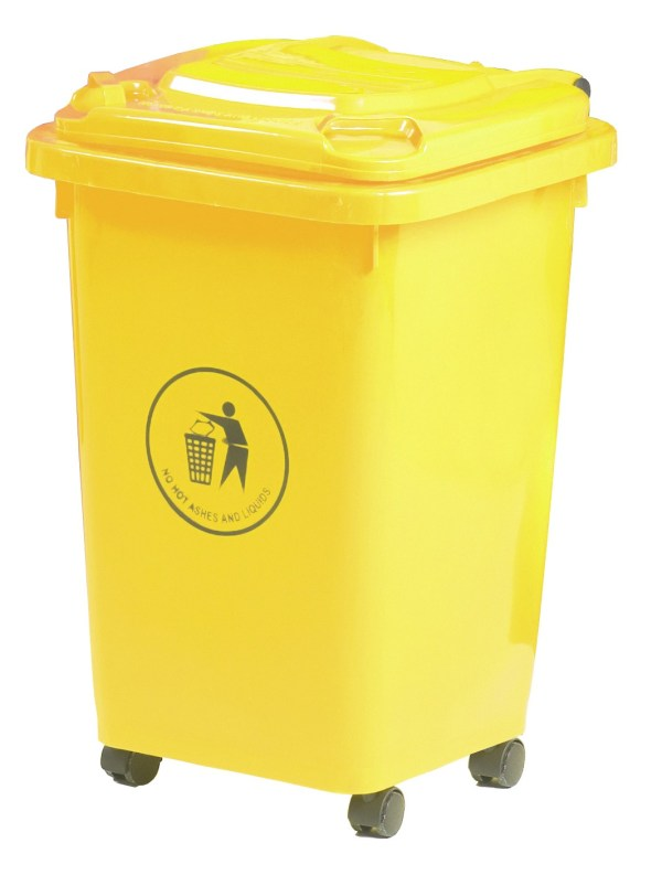 50 Litre Yellow Wheeled Bin
