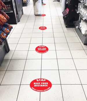 Social Distance Floor Graphic Markers