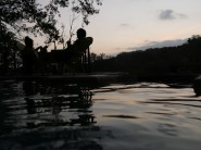 Relaxing at Sunset at the pools