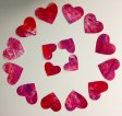 Hearts for Valentine's Day cards painted by our talented students!