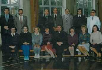 School Staff 1985. Headteacher Rev J. Leeman