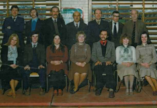 School staff 1978.