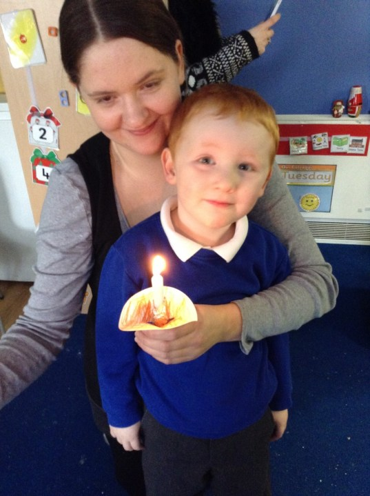 Nursery Christingle with our families