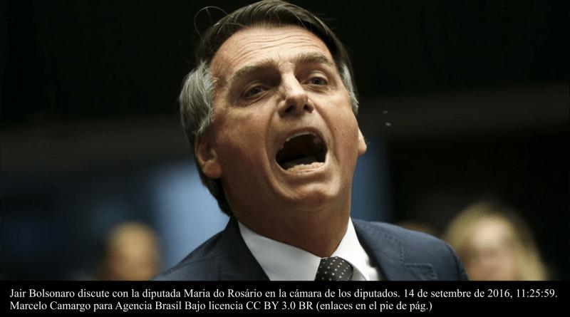 Bolsonaro discutiendo en el Congreso