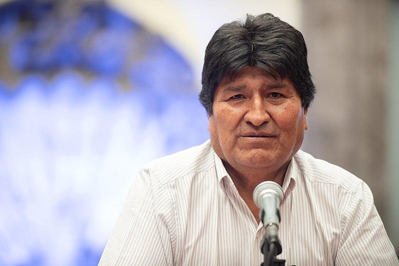 El político boliviano en conferencia de prensa en el Museo de la Ciudad de México.