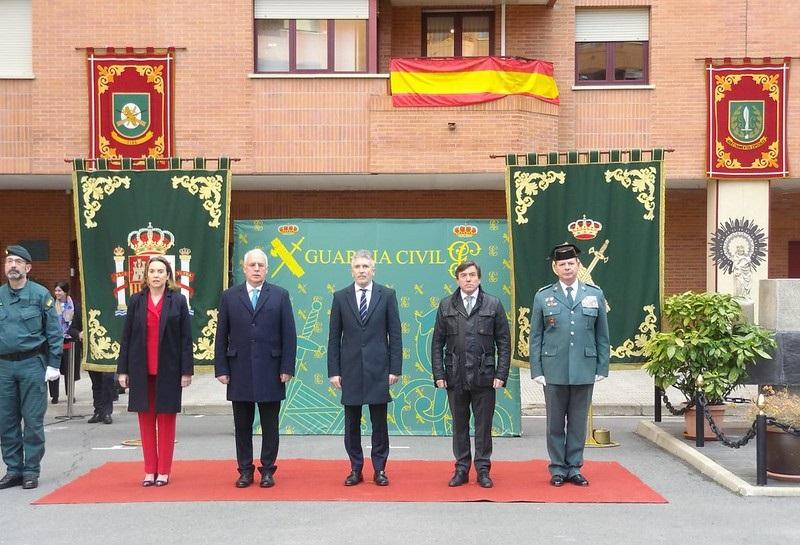 Grande-Marlaska preside el acto de homenaje de la Unidad de Acción Rural de la Guardia Civil a la Constitución Española en su 40 Aniversario  Logroño, 29 de noviembre de 2018