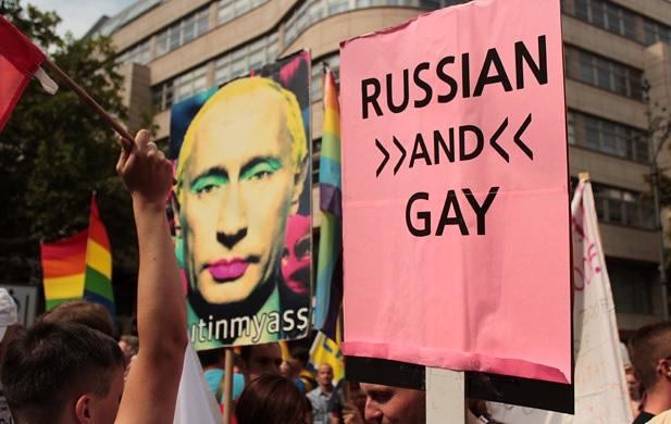 Protestas en Berlin contra Putin 2013