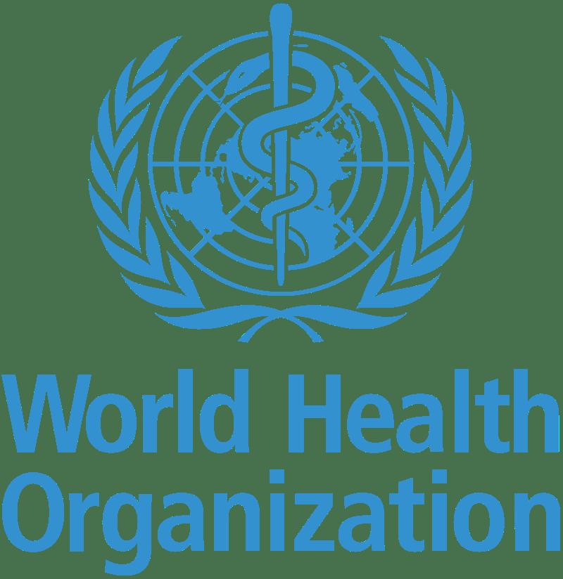 Logotipo: Organización mundial de la salud. Adrian Frutige. Dominio público