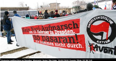Protestas antifascistas en Dresden, Alemania. Autor: Die Linke, 10/02/2010. Fuente: Flickr. (CC BY 2.0