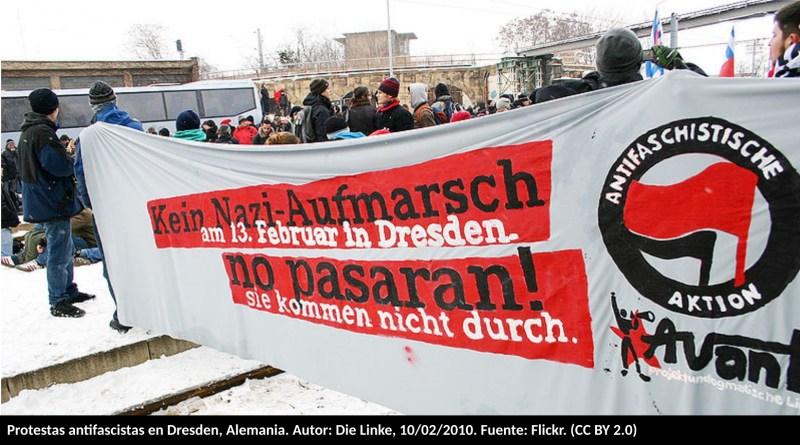 Protestas antifascistas en Dresden, Alemania. Autor: Die Linke, 10/02/2010. Fuente: Flickr. (CC BY 2.0